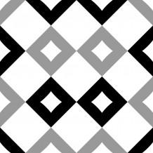 Loseta adhesiva Square Damero