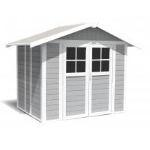 Caseta de jardín Déco 4,9m² grigio claro
