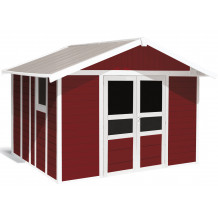 Caseta de jardín Basic Home 11m² Rojo