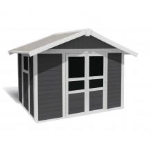 Caseta de jardín Basic Home 7,5m² Grigio oscuro