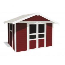 Caseta de jardín Basic Home 7,5m² Rojo