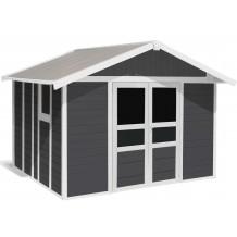 Caseta de jardín Basic Home 11m² Grigio oscuro