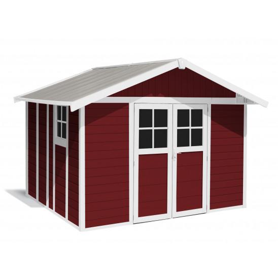 Caseta de jardín Déco 11m² Rojo