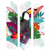 Cuadro decorativo mural TOUCAN COLOUR