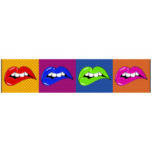 Cuadro decorativo pano Lip's Wow'Roll