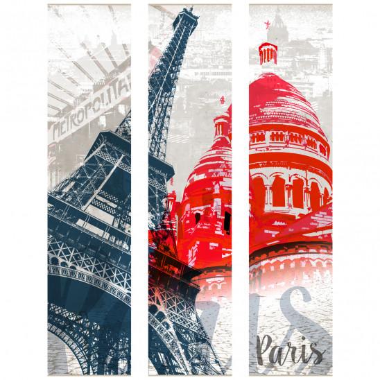 Cadre décoratif mural Paris - Les monuments