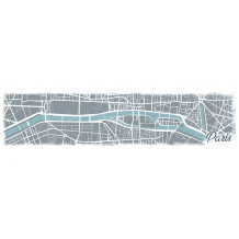 Cuadro decorativo Paris Map pano
