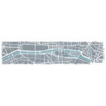 Cuadro decorativo Paris Map pano