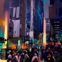 Pared decorativa Element 3D My City