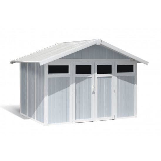 Caseta de jardín Utility 7,5m² grigio - azul
