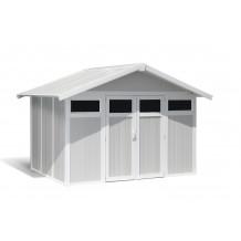 Caseta de jardín Utility 7,5m² grigio - verde