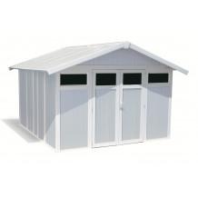 Caseta de jardín Utility 11m² grigio - azul