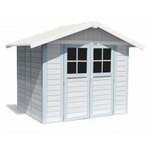 Caseta de jardín Déco 4,9m² grigio - azul