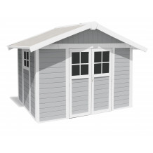 Caseta de jardín Déco 7,5m² gris claro