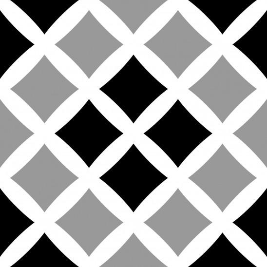 Loseta adhesiva Square Cross