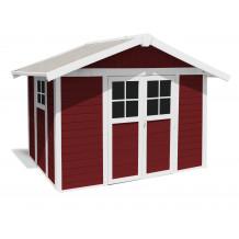 Caseta de jardín Déco 7,5m² PMMA Rojo