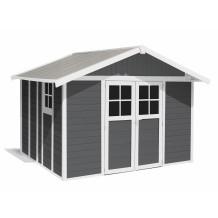 Caseta de jardín Déco 11m² Grigio oscuro