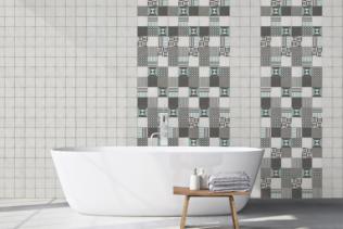 El revestimiento mural cuarto de baño