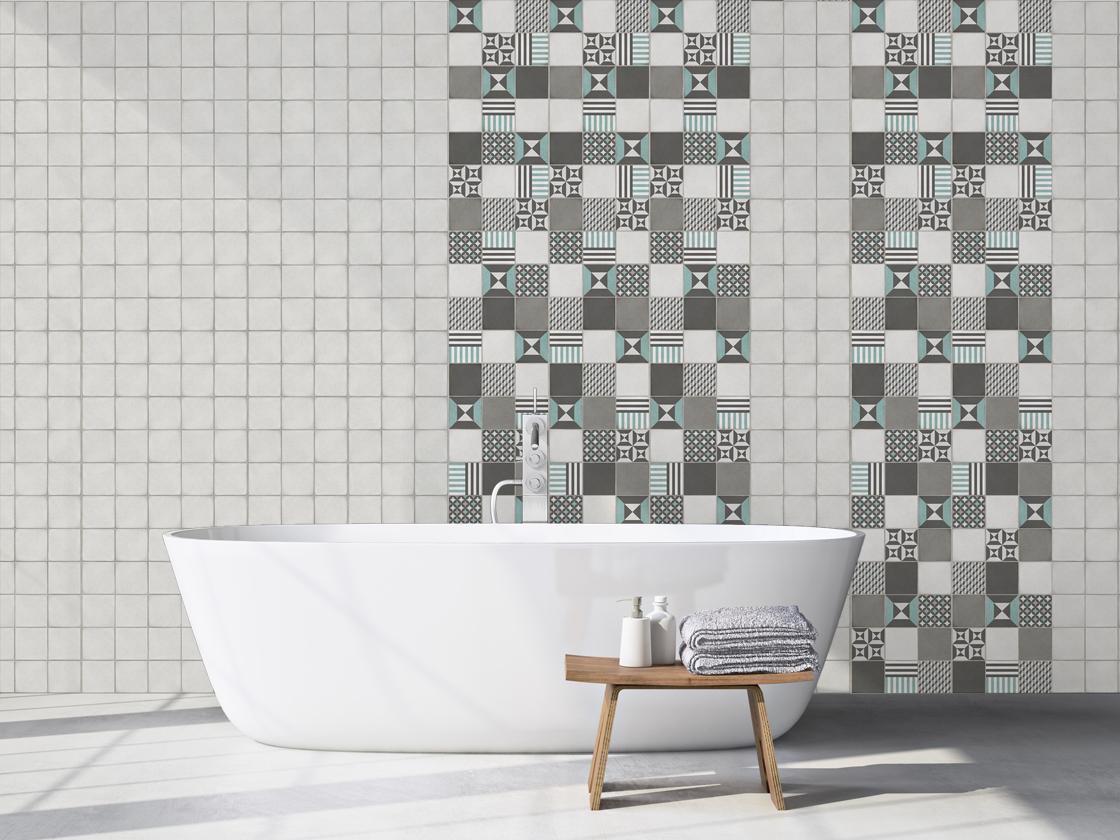 El revestimiento mural cuarto de baño - Grosfillex